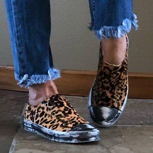 🍃💕NIB Naughty Monkey Pony Hair Leopard Sneaker